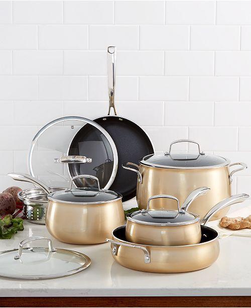 Belgique Aluminum 11 Pc Cookware Set Created For Macy S