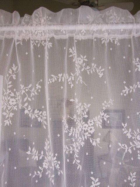 lace in item for kitchen curtain embroidered white curtains short