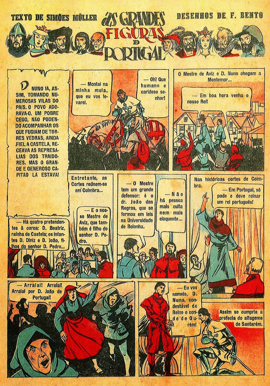 BDBD - Blogue De Banda Desenhada: BD E HISTÓRIA DE PORTUGAL (6) - NUNO ÁLVARES…
