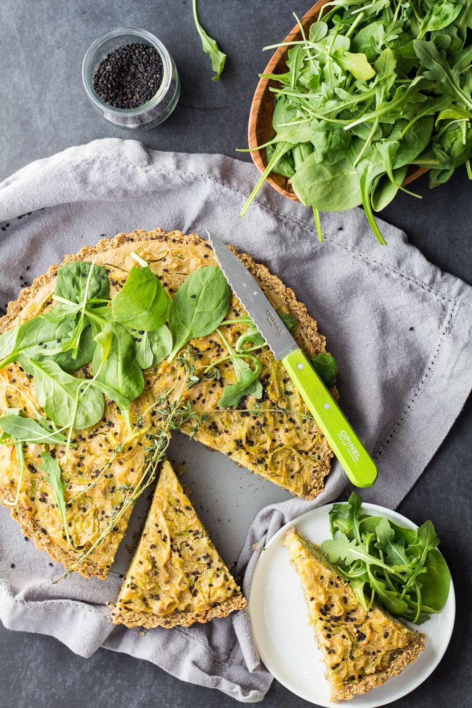 Vegan Leek Quiche Green Healthy Cooking Vegan Quiche Soy Free Vegan Food