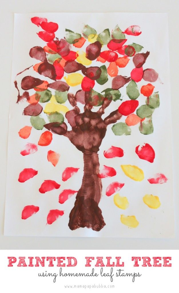 Bringing Fall to the Desert... With a Fall Tree Painting - Mama. Papa. Bubba.