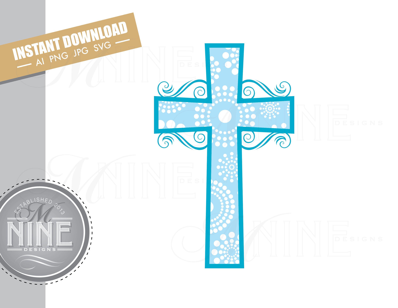 Blue Cross Clip Art Downloads Vector Blue Cross Ai Png Jpg Etsy Clip Art Downloadable Art Photo Album Scrapbooking