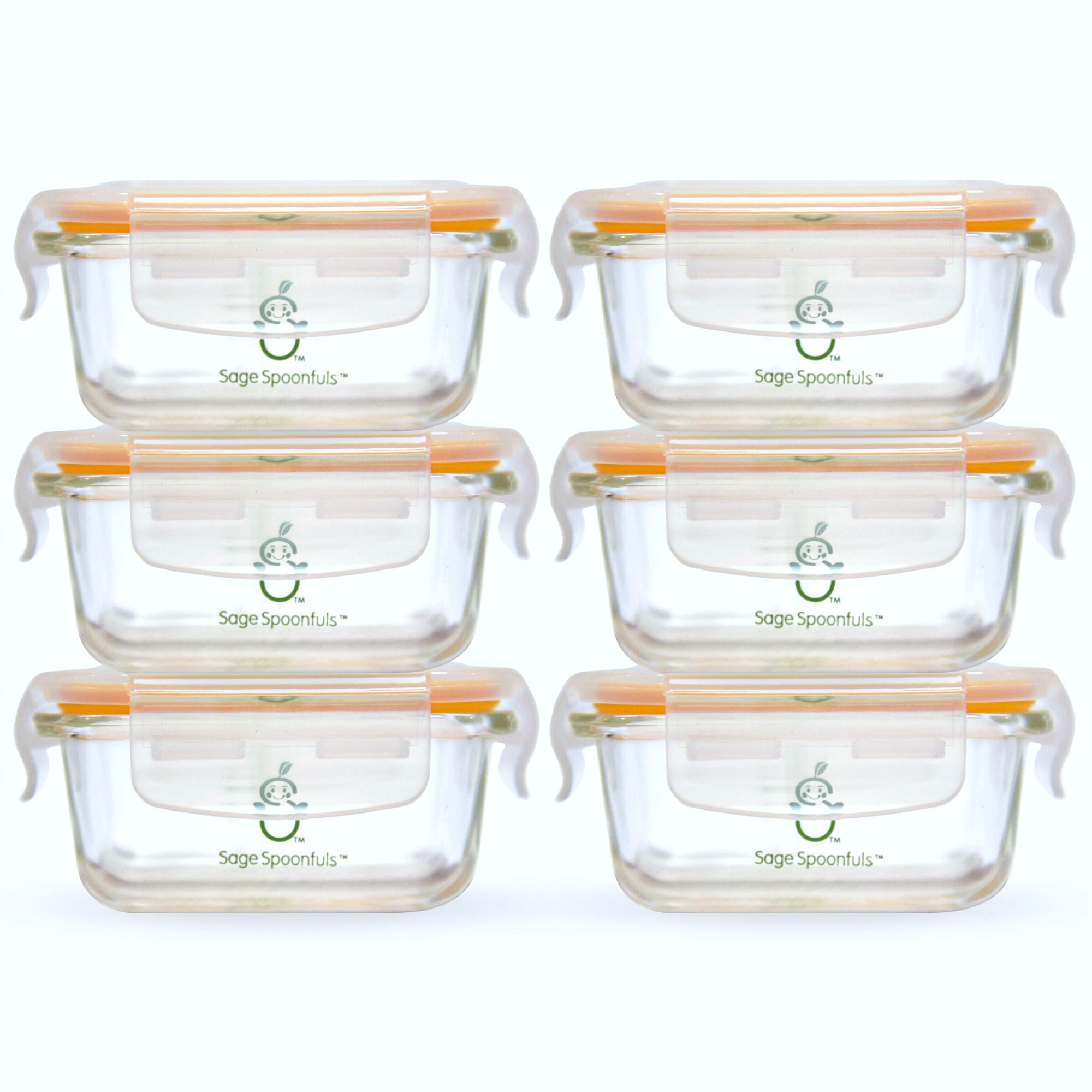 Tough Glass Tubs - 6 Pack | Baby food storage, Baby food ...