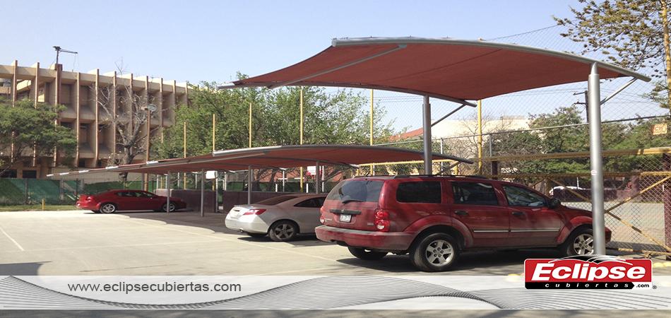 Toldo curvo malla sombra comercial 95 para autos y autobus for Toldos para estacionamiento