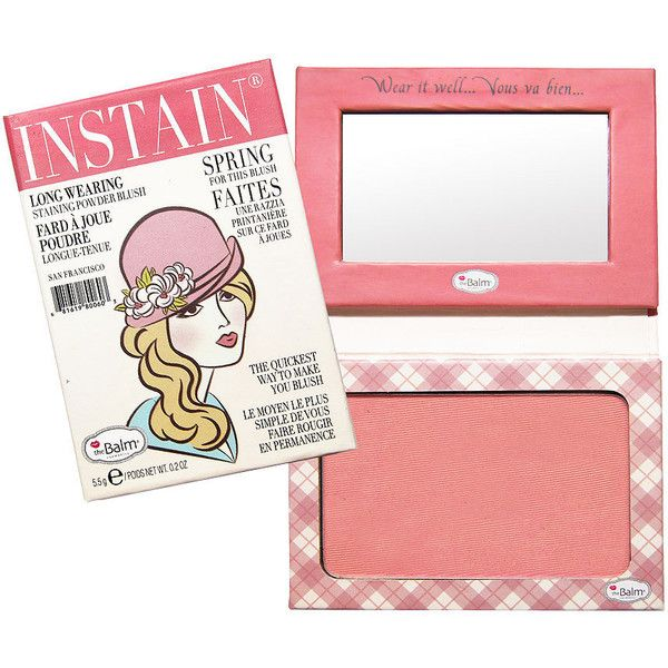 theBalm Instain Staining Powder Blush, Argyle 1 ea (83 SAR) ❤ liked on Polyvore featuring beauty products, makeup, cheek makeup, blush, beauty, faces, maquiagem, thebalm and powder blush