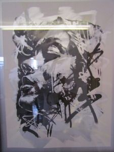 "Image of ""Breathe"" Mixed Media creen Print on Hand rolled Aluminium paint"