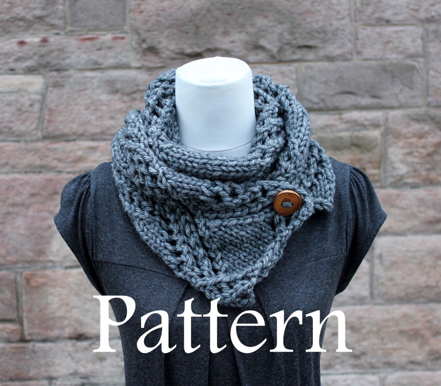 Knitting patterns for women scarf pattern listing136 knitting knitting pattern grey crossing lace button scarf listing136 by laurimukspatterns on etsy https bankloansurffo Choice Image