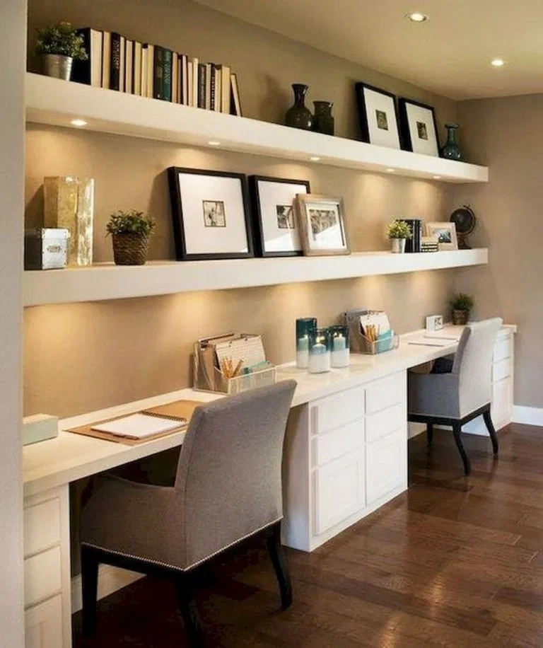 55 Creative Design Ideas For Office Spaces Office Officeideas Officedecor Home Decor Tiny Home Office Cozy Home Office Contemporary Home Office