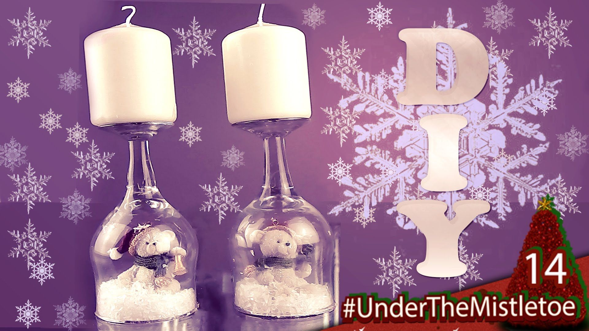 DIY Weihnachtsdeko Schneekugel - Kerzenständer + Primark Verlosung #Unde...
