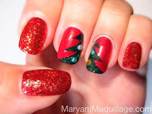 101 Cute Christmas Nail Designs For The Festive Season Nail Art