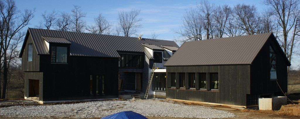 Black Siding With Dark Metal Roof Siding Pinterest