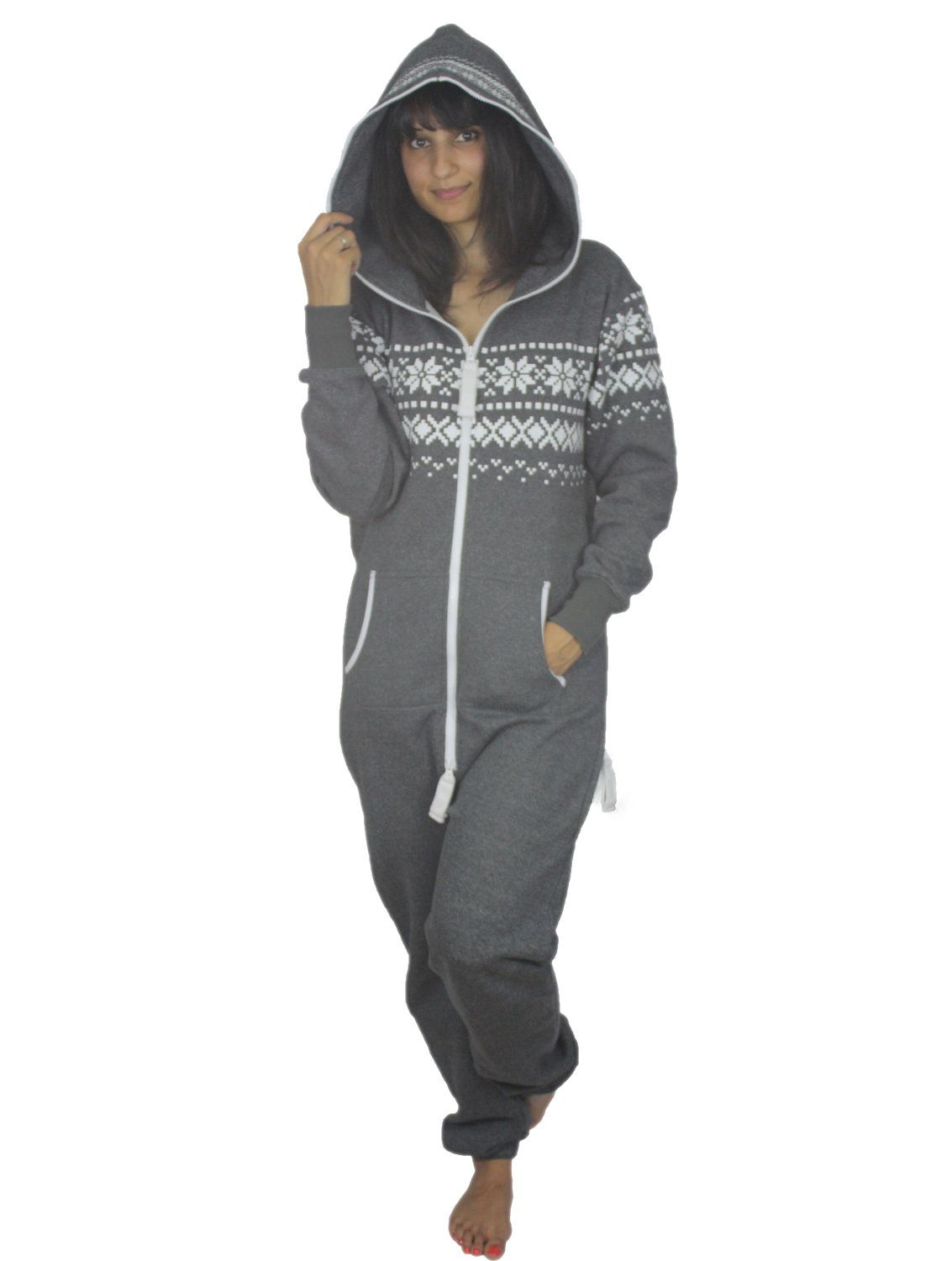 adult onesie jumpsuit one piece all in one tracksuit hoodie pyjamas lazygrow jump in. Black Bedroom Furniture Sets. Home Design Ideas