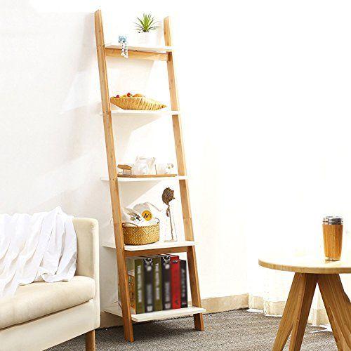 QIANGDA Trapezoid Bookrack Bamboo Bookrack Commodity Shelf