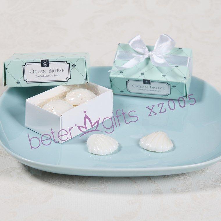 30box60pcs Beach Seashell Scented Soaps Wedding Favor Souvenir XZ005 Summer