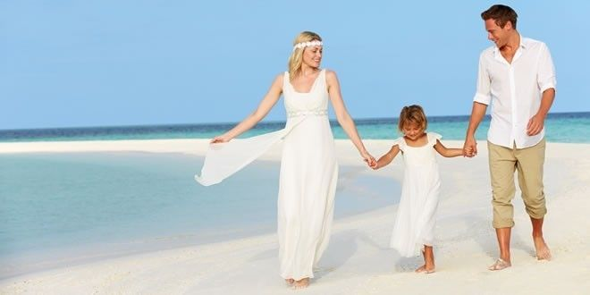 Beach Vow Renewal Ceremony: Making Vows To Your Children At Your Vow Renewal