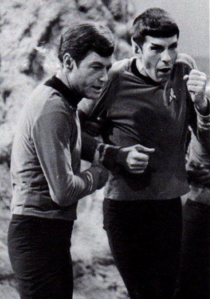 "Bones and Spock "" is that your hand, BONES??!?!"