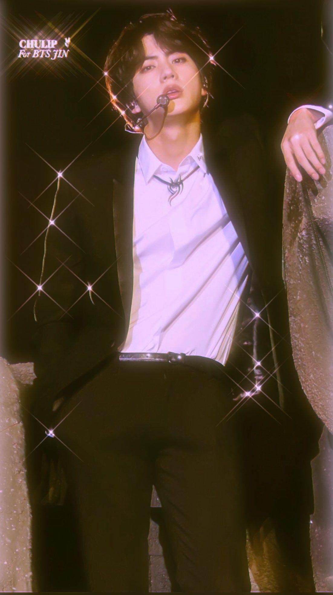 I Live For Jin S Long Black Hair Bts Jin Seokjin Bts Heartthrob