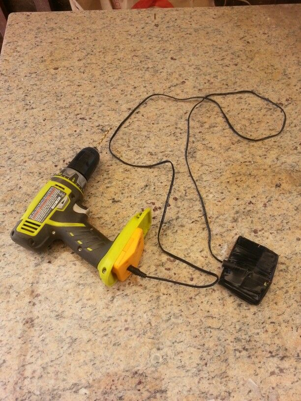 Make Yourown Ryobi Battery Use Ac Adapter To Replaces Ryobi One