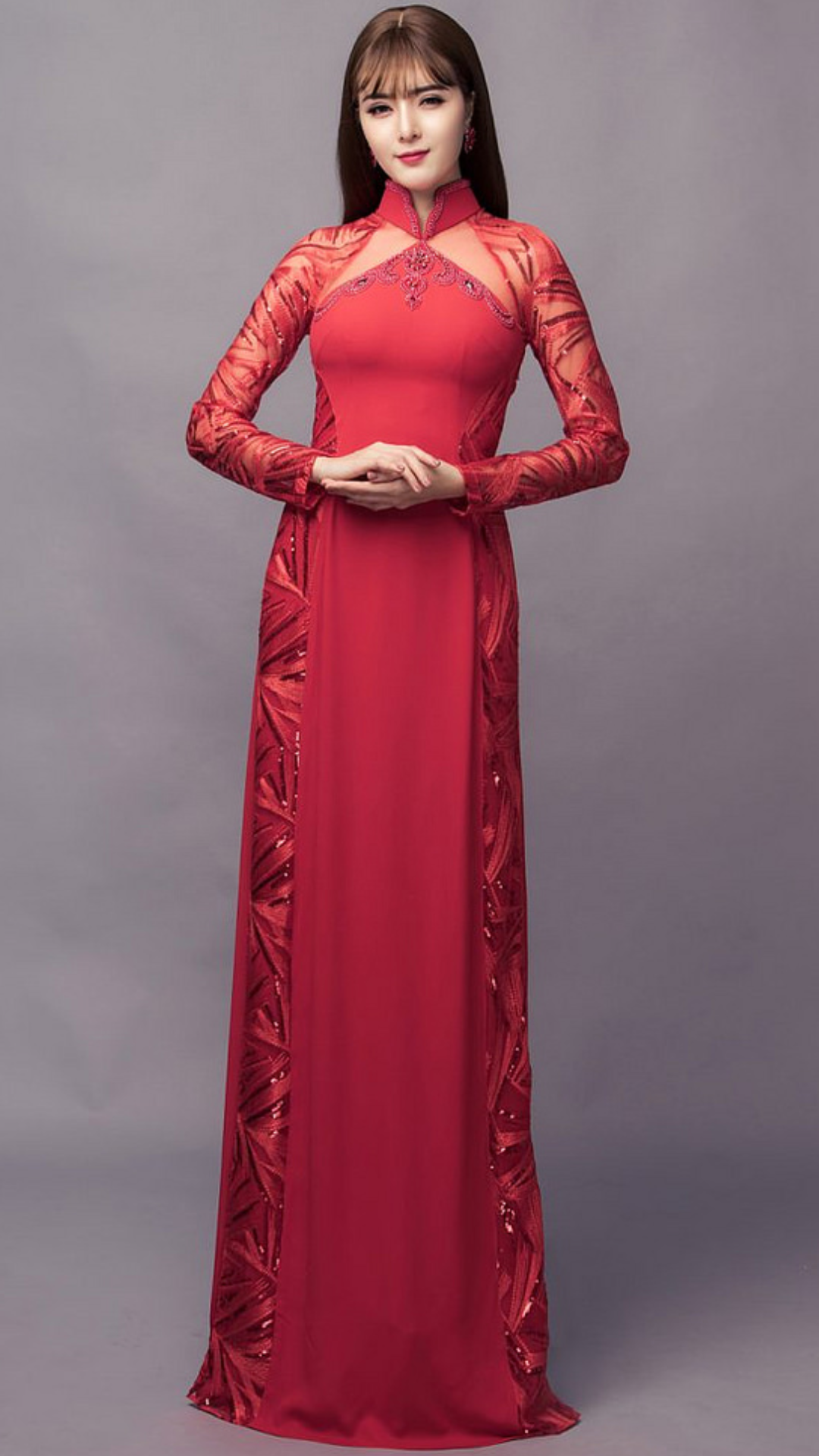 Vietnamese long dress (With images) Vietnamese long