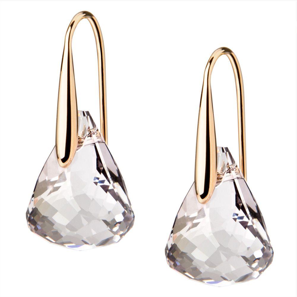 Swarovski Lunar Crystal Blush Pierced Earrings