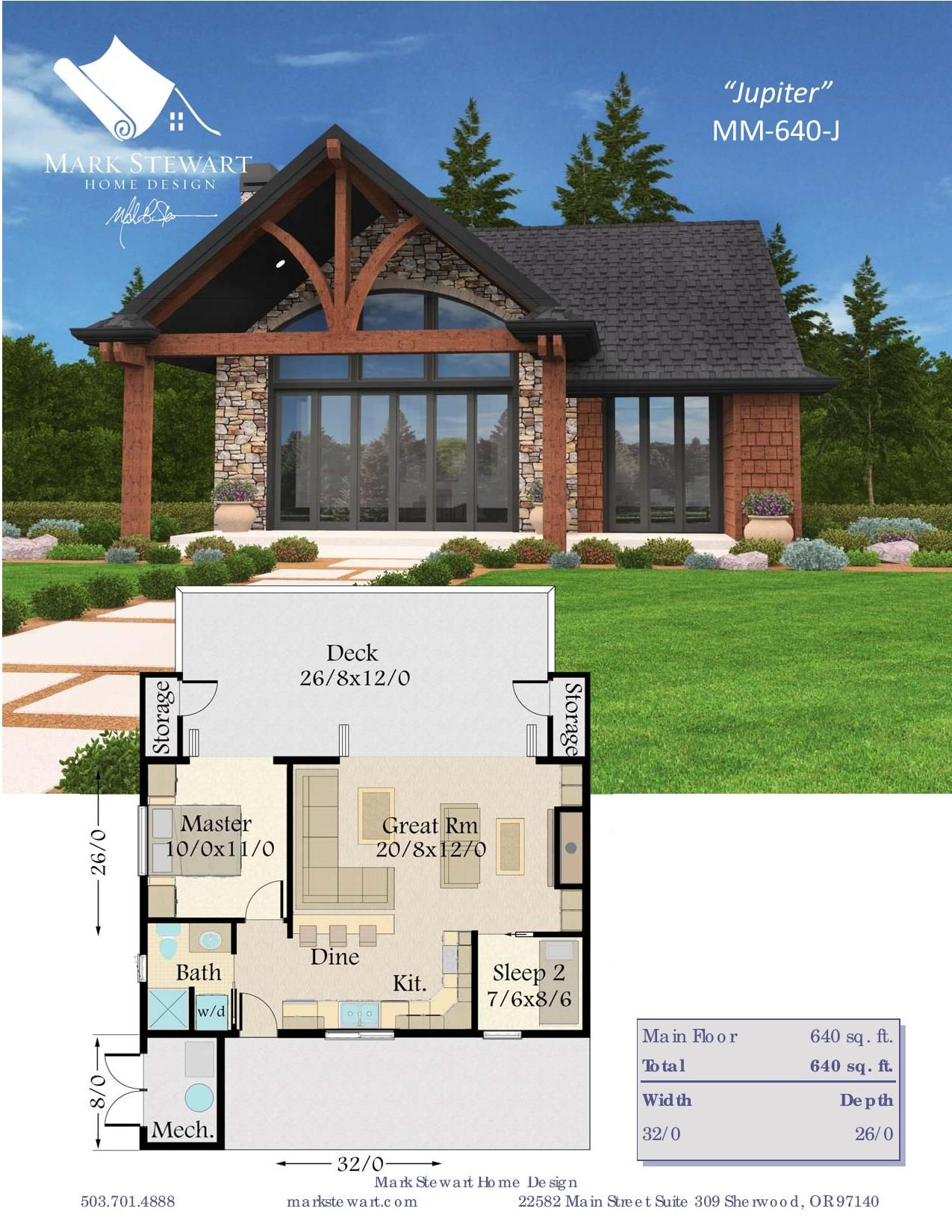 This Cozy Cabin House Plan Offers Huge Living In Under 650 Square Feet Jupiter Is Ultra Flexible And Offers Cabin House Plans House Plans Modern House Plans
