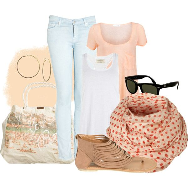 Peach pastell, created by chrishei82 on Polyvore