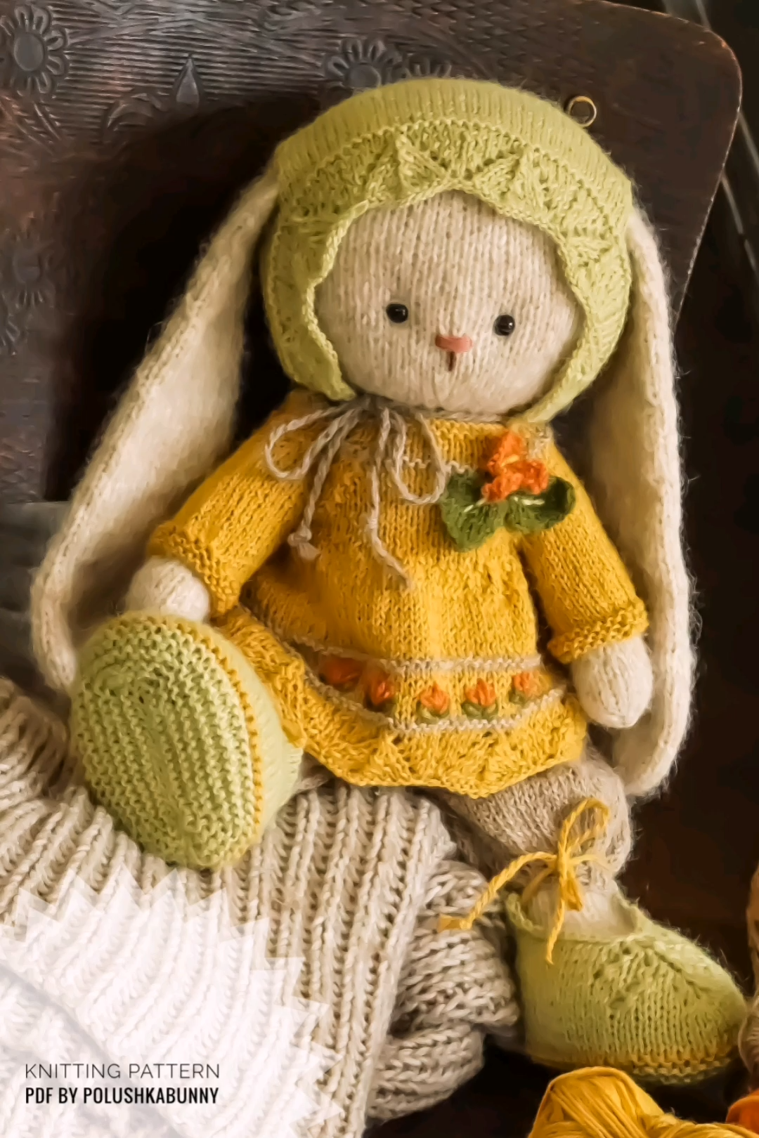 Photo of Easter Knitting Pattern Gemütliches Outfit für Bunny von PolushkaBunny #Easter #bunny #knitting #pattern