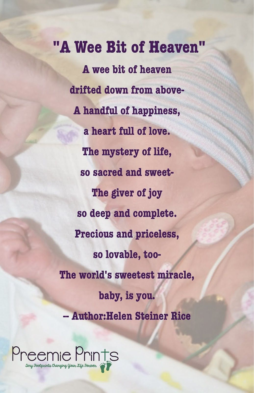 Premature Baby Quotes A Beautiful Baby Poem  Inspiration For Nicu Parents  Pinterest