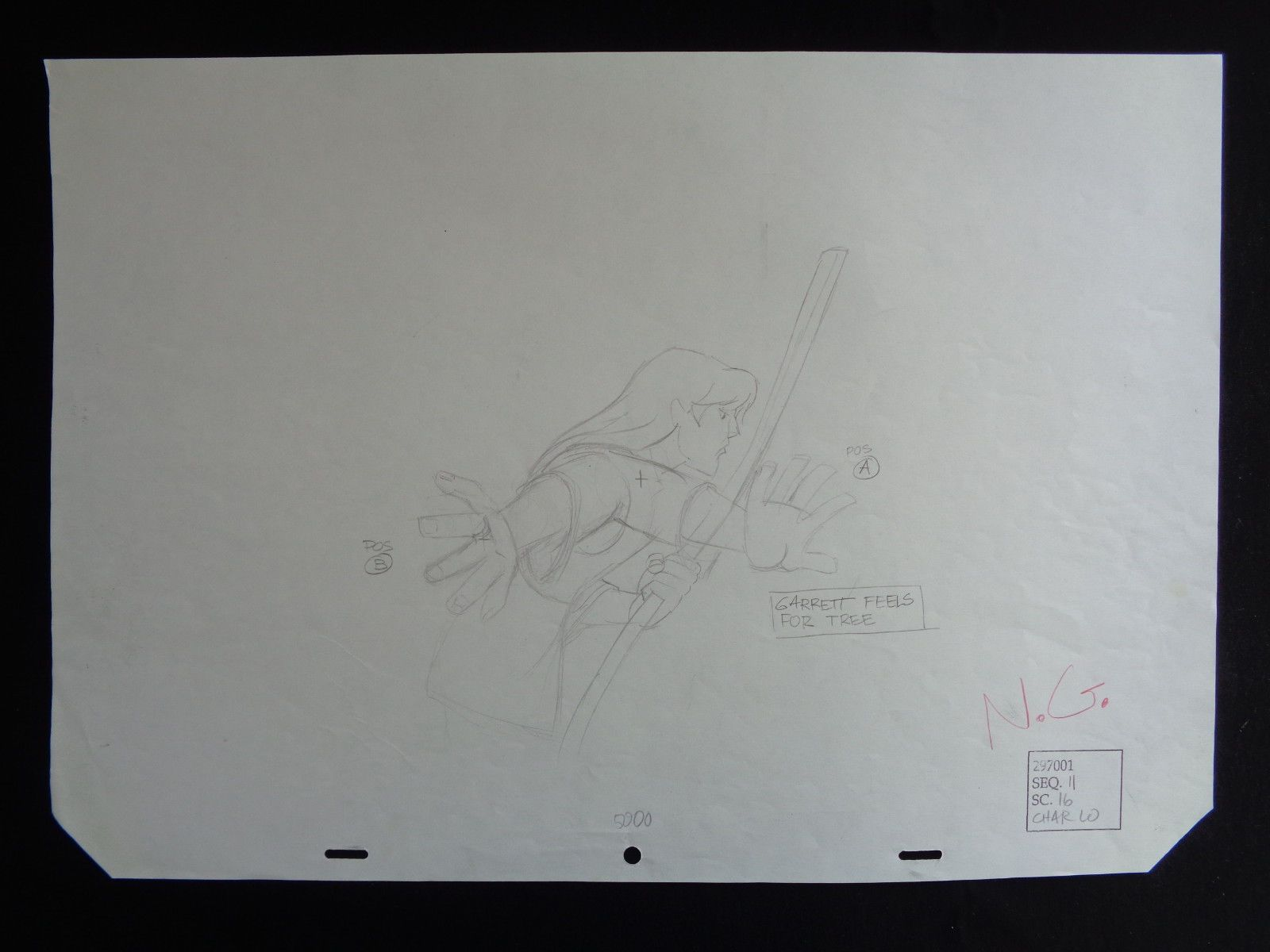 Quest For Camelot Garret Feels for Trees rough Art Warner Brothers seq 11