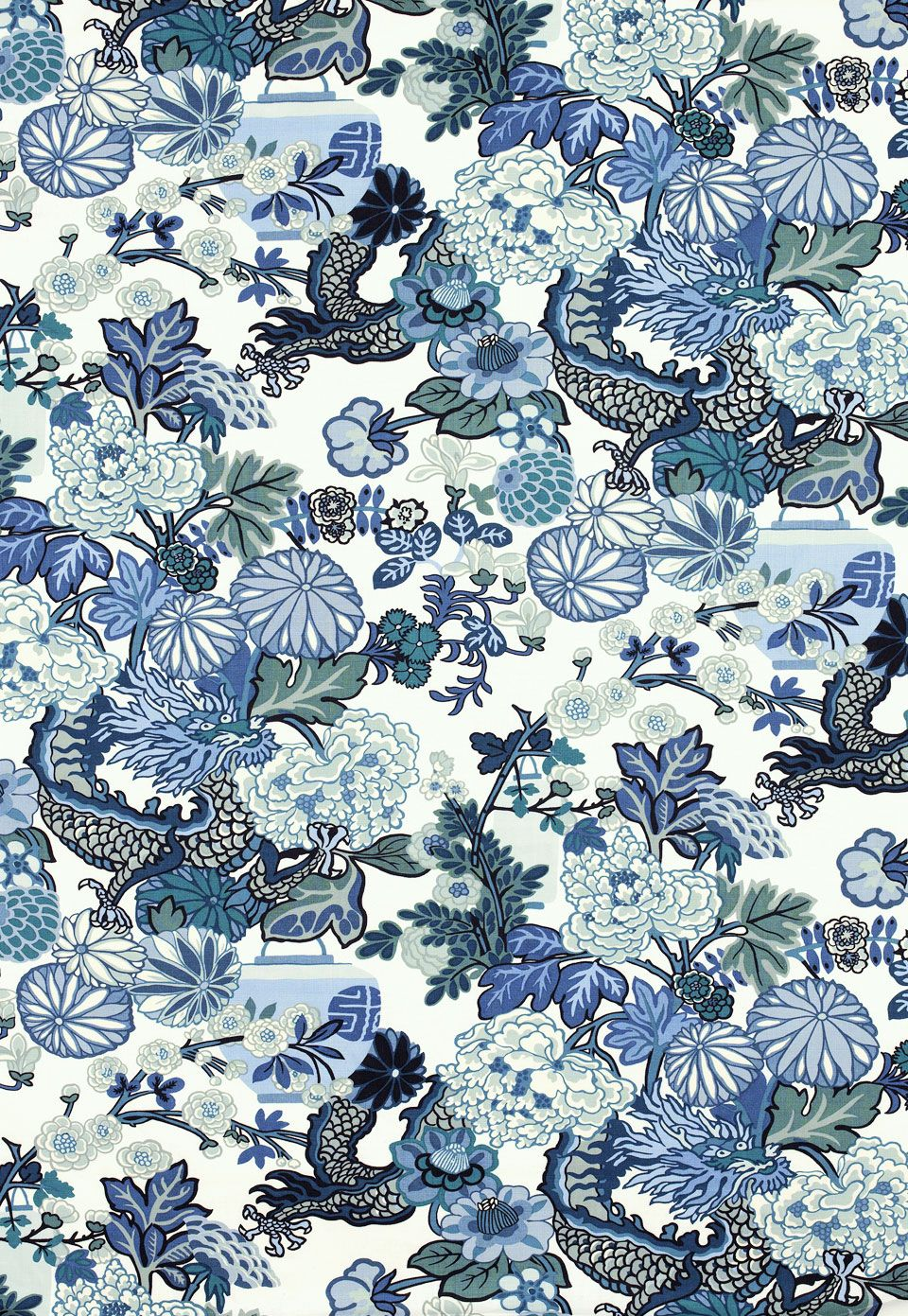 """New Chinoiserie Fabric from Schumacher """"Chang Mai"""" (via"""
