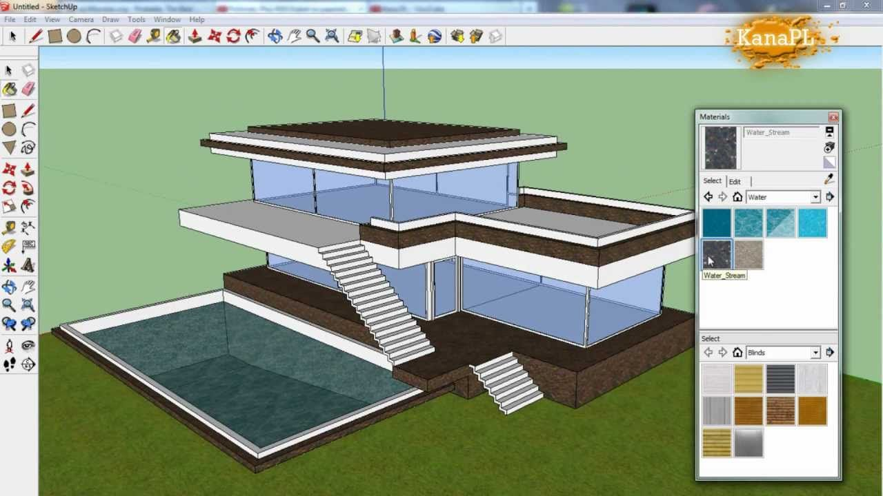 1 Modern House Design In Free Google Sketchup 8 How To Build A