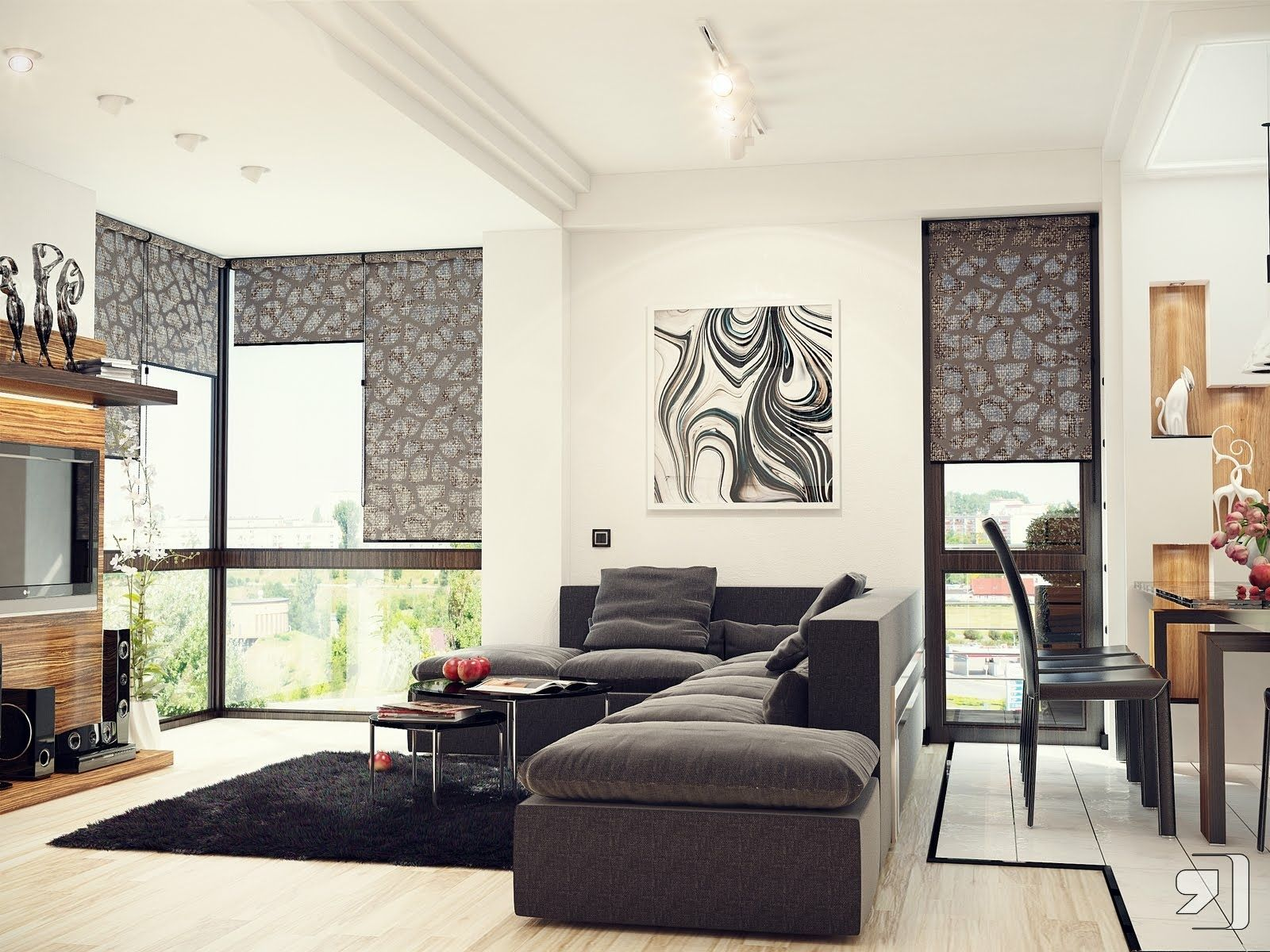 Black White Gray Living Room Of Marvelous Modern With Nature Tones Color Blasts From Designs