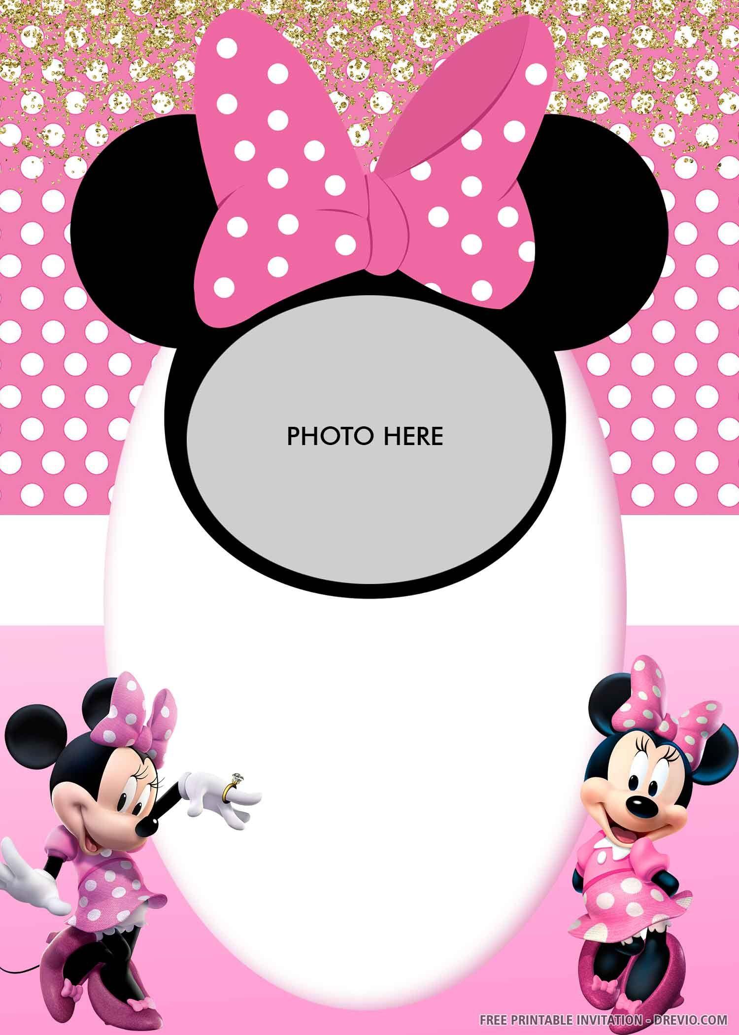 free printable  minnie mouse's pink bandana birthday
