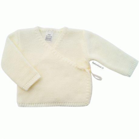 48485a8c1d4aa Brassière pour bébé prématuré en maille acrylique crème > Babystock ...