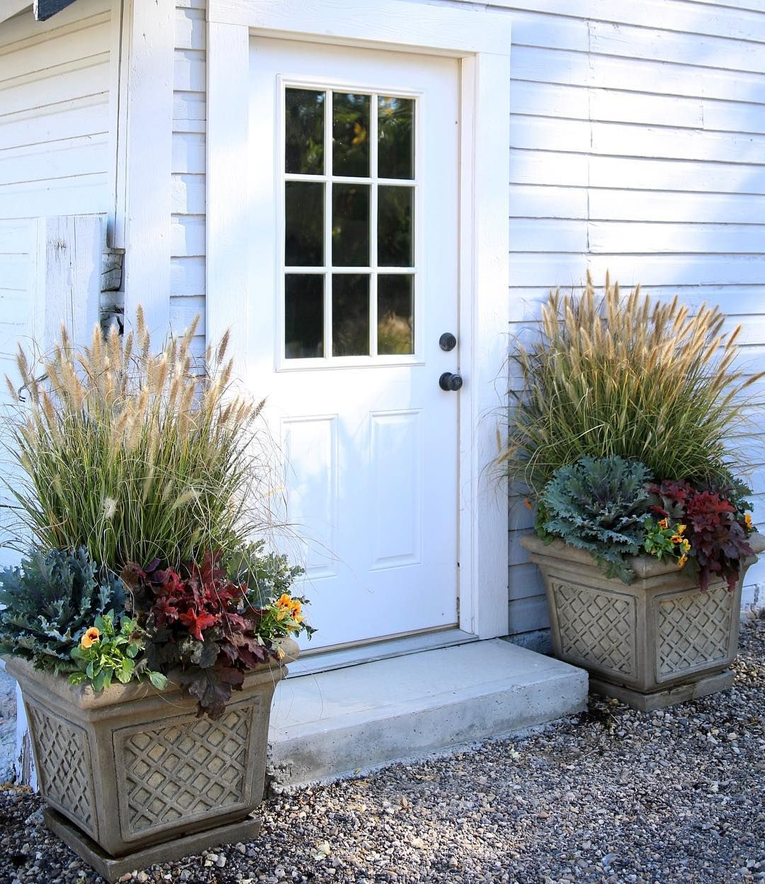 I'm Loving The Fall Containers Out By Our Barn!