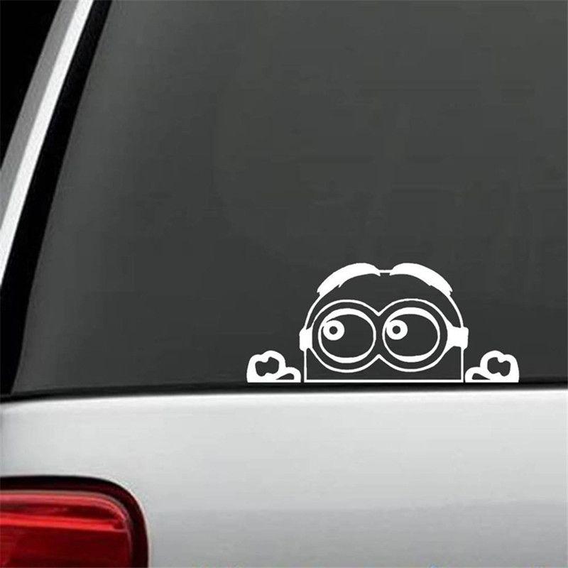 Minion despica vinyl car decal die cut sticker vinyl color white black 5 5