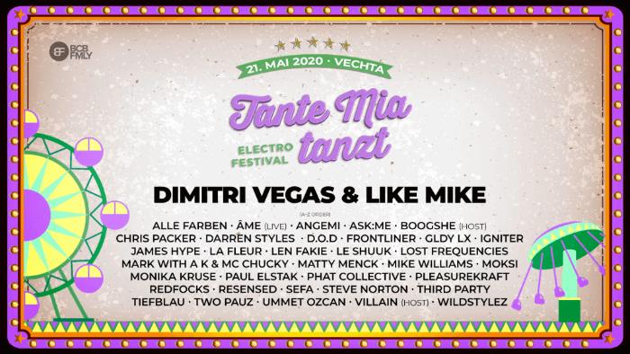 Tante Mia Tanzt 2020 European Festivals Electronics Festival Festival