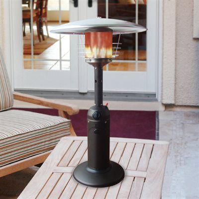 Paramount Table Top Patio Heater Stainless Steel 38 With Images Patio Heater Outdoor Patio Table Outdoor Heaters Patio