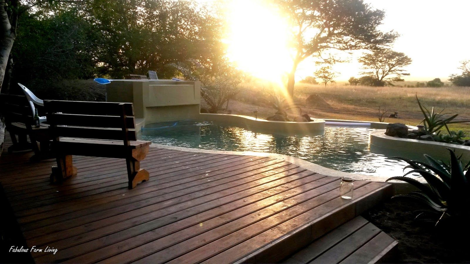 Fabulous Farm Living: Building our Pool.  photos showing the building of a most fabulous #pool