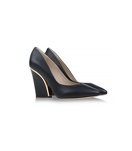 @Alexandra M What Wear - At first glance, these appear to be typical black pumps, but the metallic detail at the heel made us do a double take. Chloe Closed Toe Pumps ($795)