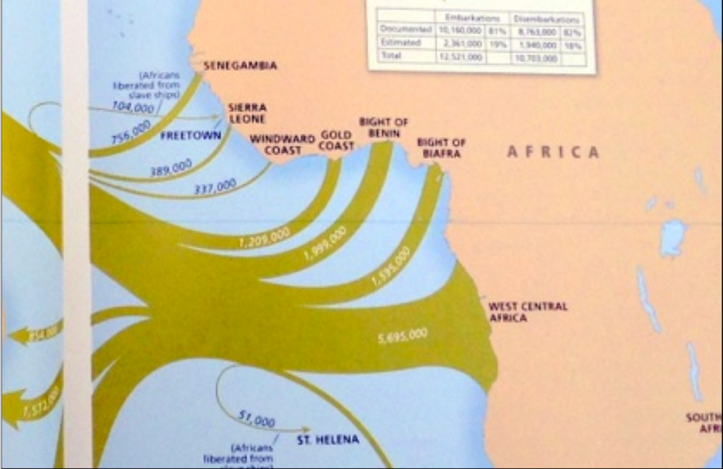 African Slaves Shipped From West And West Central Africa Map