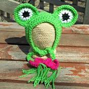 Sweet Froggie Bonnet - via @Craftsy