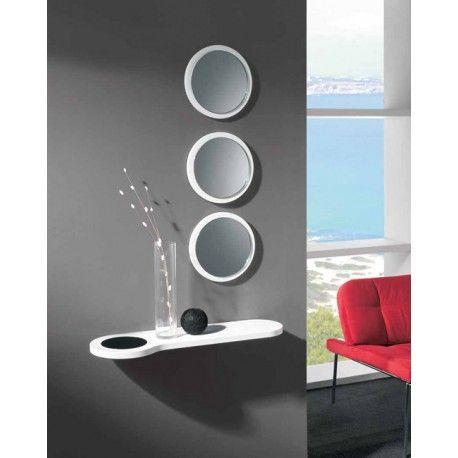 espejos redondos de diseo moderno para recibidores con poco espacio aprovecha para decorar en