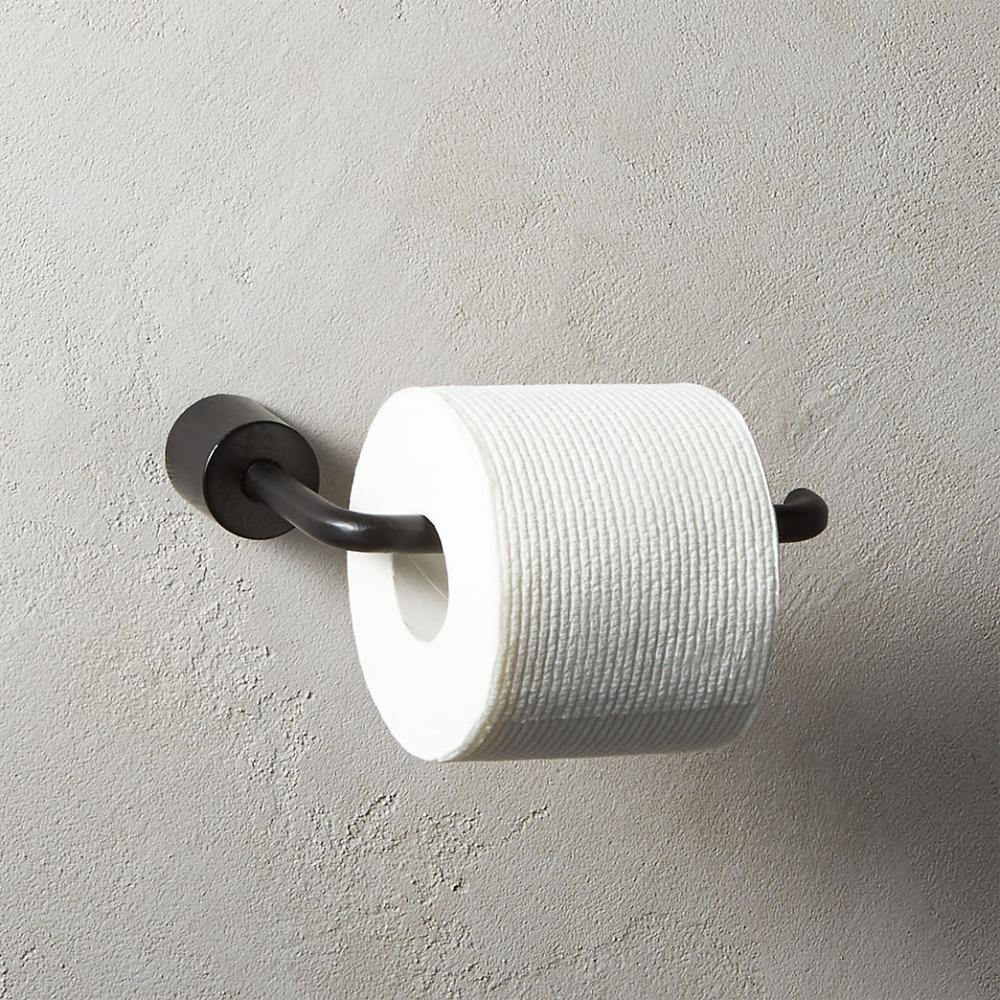 Modern Towel Racks Towel Hooks Toilet Paper Holders More Cb2 In 2020 Black Toilet Paper Black Toilet Paper Holder Modern Towels