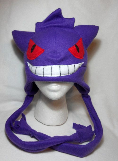 Pokemon Inspired Gengar Fleece Hat -MADE TO ORDER-  26a2d129fe40