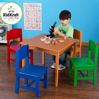 KidKraft Nantucket Childs Table U0026 Chair Set In Primary