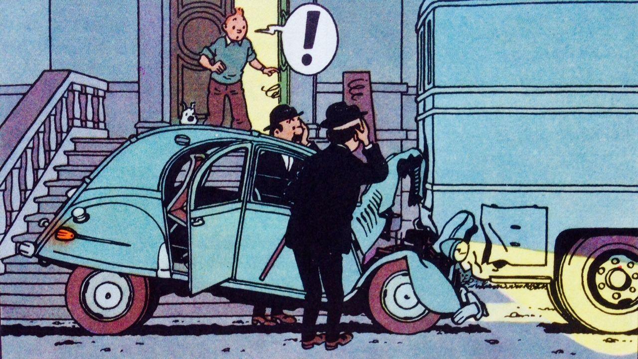 Las Joyas De La Castafiore Citroen 2cv Tintin Las Aventuras De Tintin Comics