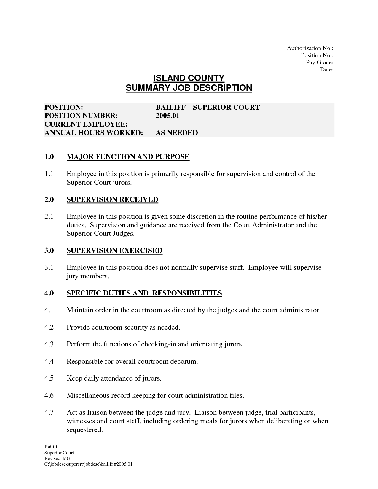 Blank Job Description Template    Is Help Us Grow By Sharing
