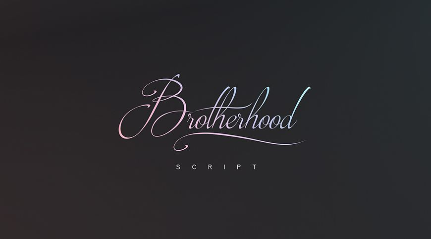 Brotherhood script font available for free download for personal
