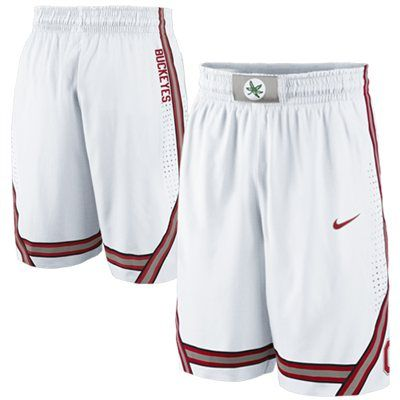 c24a451e Nike Ohio State Buckeyes Replica Basketball Shorts - White | Xmas ...